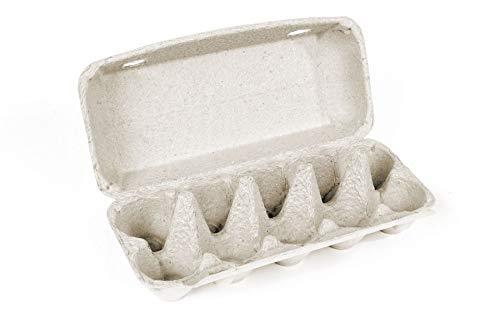 10er Eierschachteln, Uni, unbedruckt, weiß, 77 Stück, Pappe (1)
