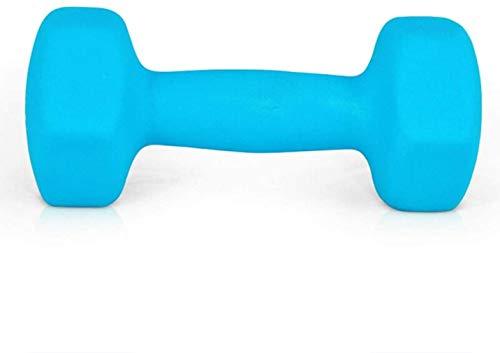 Mancuernas esmeriladas de 4 kg (2 kg x 2) para el hogar de las señoras de la aptitud de los brazos delgados, culturismo, aeróbicos, hombres y mujeres, mancuernas de entrenamiento Sereno azul