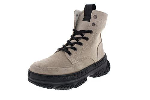 Yellow Cab Schuhe Plateau Sneaker Dakota 8-d White Suede, Größe:42 EU