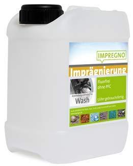 IMPREGNO Imprägnierung, GOTS geprüft, vegan, PFC frei, Wash 2,5 Liter Waschmaschine/Handwäsche Imprägniermittel fluorfrei, Wasserbasis
