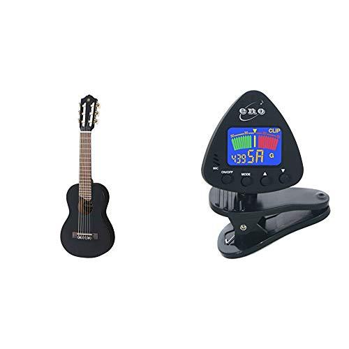 Yamaha GL1 Guitalele, Mini guitarra de madera con las dimensiones de un ukulele + Eno Clip para afinador de guitarra y ukelele, Sintonizador de bajos y violín