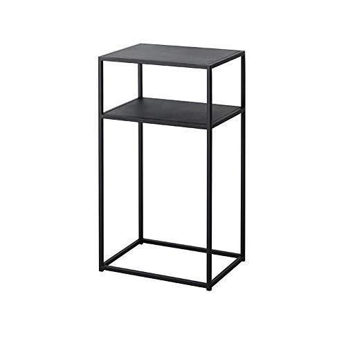 JCNFA planken 2-laags metalen boekenkast, boekenkast, multifunctionele displaystandaard, plantenrek tuin opslag plank moderne minimalistische tafel, badkamer woonkamer opbergplank, metalen frame 15.74*11.81*27.55in Zwart