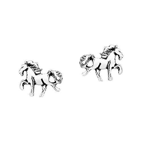 Mini Horse .925 Sterling Silver Stud Earrings