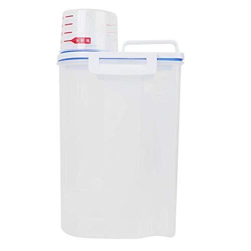 Foode Tarros de almacenamiento con escamas Tazas Sello de cocina Plástico engrosado A prueba de insectos A prueba de humedad Cubo de arroz Botellas y tarros de almacenamiento