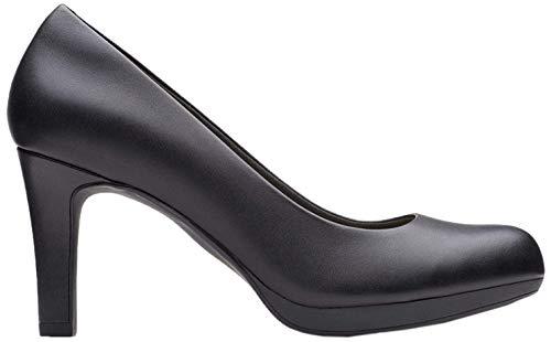 Clarks Damskie czółenka Adriel Viola, czarny - Schwarz Black Leather - 37.5 EU