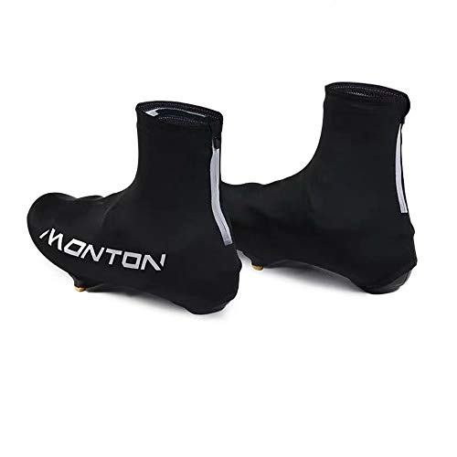 Cycling Overshoes Overshoes Road Bike Lock Shoes Mountain Bike Riding Shoe Cover Dustproof Outdoor Men and Women Riding Equipment (Color : Black, Size : 10 UK)