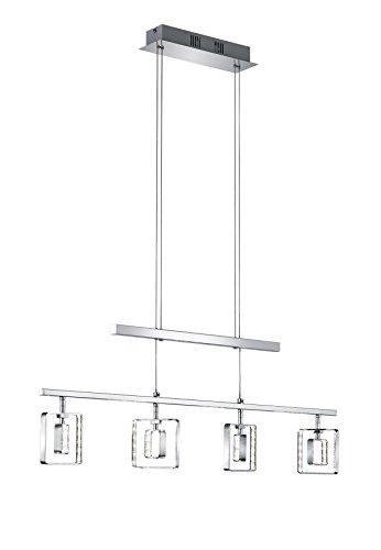 Khl LED Pendellampe Jojo Eßtisch chromfarbig Stripe 4x4,5W LED warmweiß 80cm KH325241