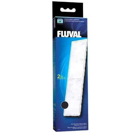 Fluval Poly-Aktivkohle-Filtereinsatz für Fluval Innenfilter U4, 2er-Pack