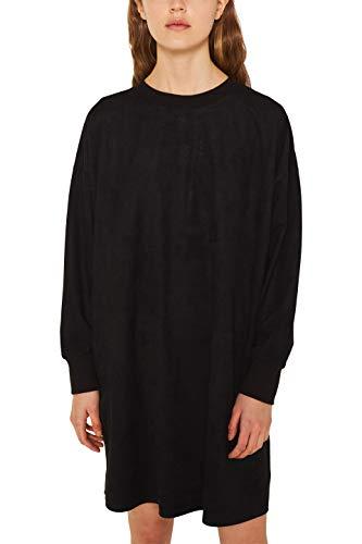 edc by ESPRIT Damen 129CC1E012 Kleid, Schwarz (Black 001), (Herstellergröße:36)