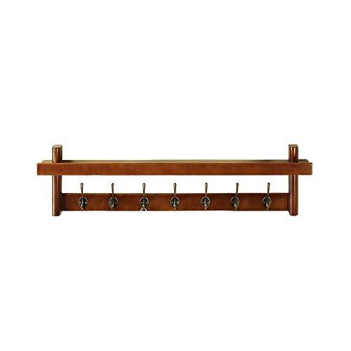 Wall Mounted Shelf, massief houten Rek van de Vertoning en Organizer, Kapstokken Met Haken for Corridor 410
