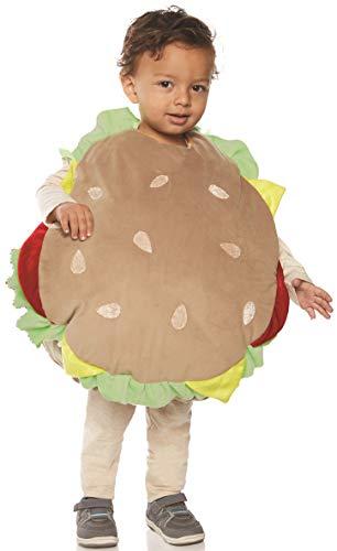 UNDERWRAPS unisex child Toddler's Plush Hamburger Belly Babies Costume, Multi, X-Large US