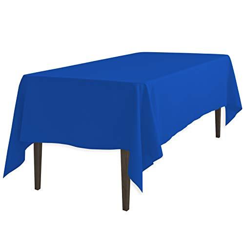 LinenTablecloth 60 x 126-Inch Rectangular Polyester Tablecloth Royal Blue
