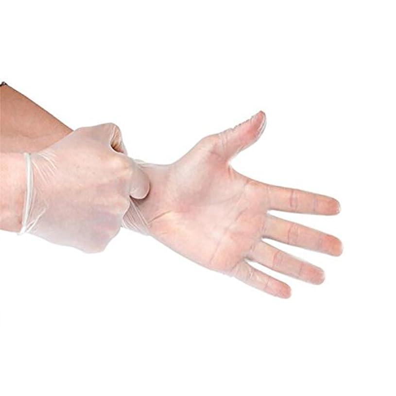 感じキャリア農場Cozyswan 使い捨て手袋 100枚入り 粉なし検査 料理 絵 清潔 掃除 ペット管理 size M (透明)