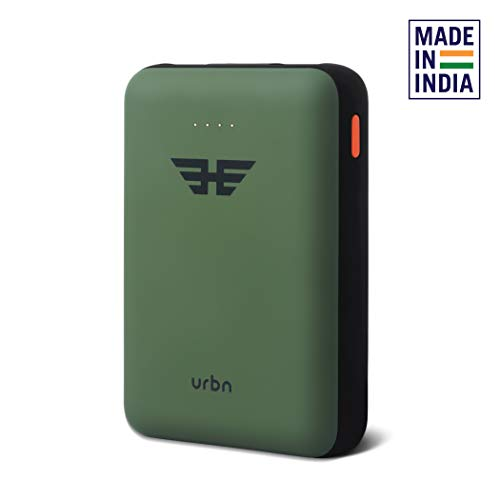 URBN 10000 mAh Li-Polymer Ultra Compact Power Bank with 12W Fast Charge (Camo)
