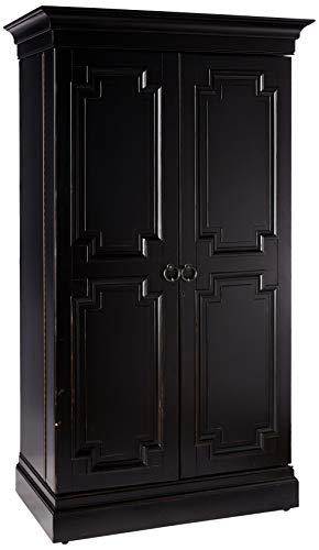 Howard Miller Sambuca Wine and Bar Cabinet 695-142 – Heavily Distressed Wood Storage Furniture