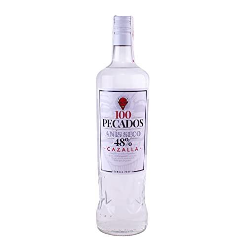 100 Pecados 100 Pecados Anís Seco | 12 Botellas Miniatura 50Ml | - 600 ml