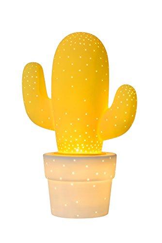 Lámpara de mesaamarilla en forma de cactus–Diámetro 20cm–40 watts