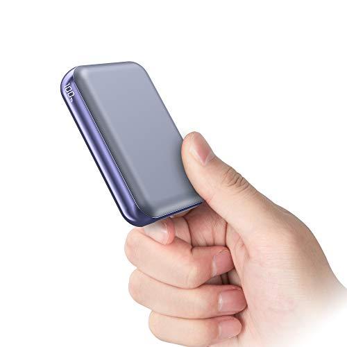 Powerbank 10000mAh【PD22.5W Ricarica Rapida】USB C mini Batteria Esterna con LED Digitale Display Caricabatterie Portatile Portatile con 2 ingressi e 3 uscite da 5A per Phone Samsung Huawei (blu)