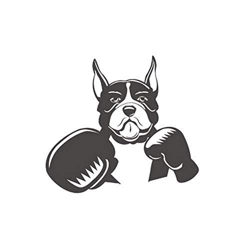 Adhesivo de vinilo autoadhesivo extraíble para pared, diseño de boxeo, perro, arte, decoración de bricolaje, palo, papel pintado, salón, comedor, dormitorio, arte decorativo, pintura de pared