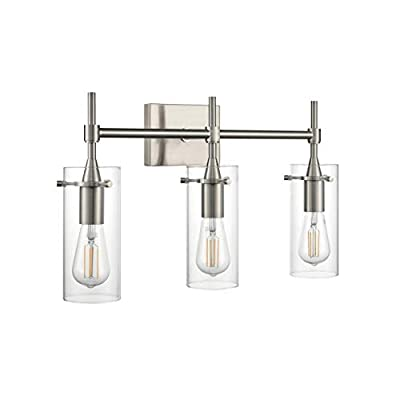 Effimero 3 Light Bathroom Vanity Light | Brushed Nickel Hallway Wall Sconce LL-WL33-1BN