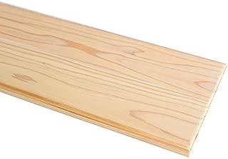 ウッドシェルフボード ナチュラル 杉板 60x20cm 6020board