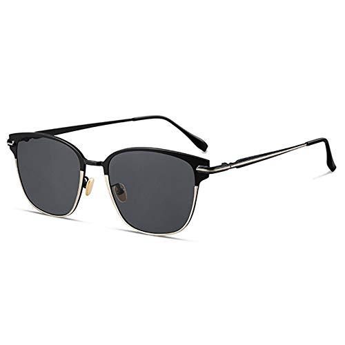 SWNN Sunglasses UV400 Negro Azul Gafas De Sol Gafas De Sol Masculinas Conducción Conducción (Color : Black)