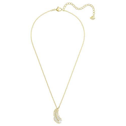 Swarovski Collana Nice, Bianco, Placcato Oro