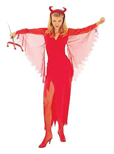 Inception Pro Infinite Taglia M - Costume - Travestimento - Carnevale - Halloween - Diavolo - Demone Infernale - Sexy - Colore Rosso - Adulti - Donna - Ragazza