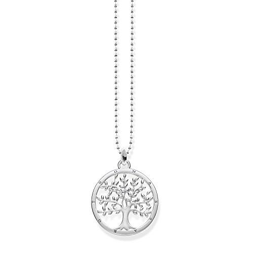 THOMAS SABO Damen-Kette Tree of Love Glam und Soul 925 Sterling Silber KE1660-001-21-L45v