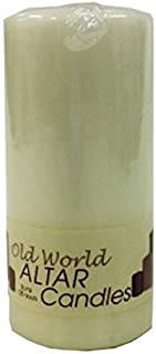 Biedermann & Sons Old World Cathedral 5-Inch Tall Candle Pillar, Ivory