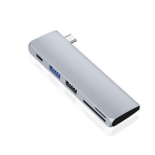 Dhmm123 USB Hubs TEBE USB C Hub 5 At 1 Type C To SD/TF Card Reader USB 3.0 + USB 2.0 Halfad Adapter IPad Pro MacBook High Speed
