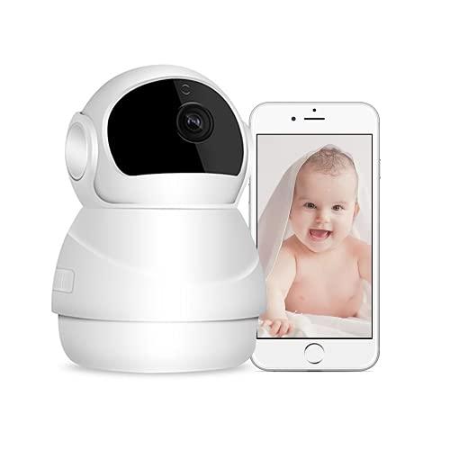 Bizcasa Cámara IP, Cámara de vigilancia WiFi HD 1080P Cámara de Seguridad con visión Nocturna, Audio de 2 vías, Alarma remota, detección de Movimiento Control Remoto