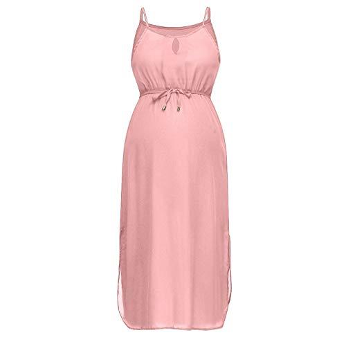 Lenfesh Moderne Umstandsmode Kleidung Schwangerschaft Umstandskleider ärmelloses Solider Rock Stillen Sexy Beach Kleid Elegant