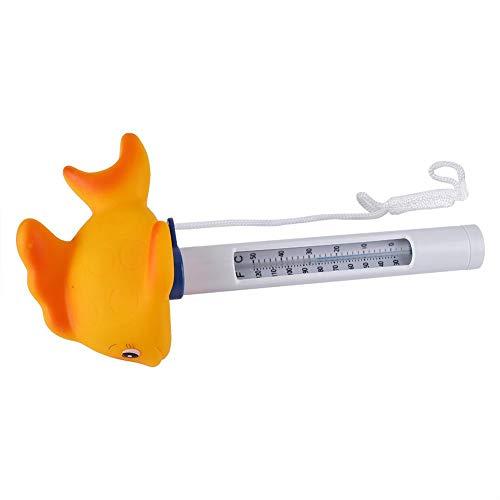 Demeras Großes schwimmendes Pool-Thermometer, langlebig, Pool-Thermometer für Aquarium für Schwimmbad (Fisch)