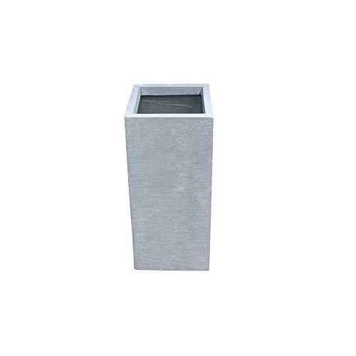 Kante RF0002B-C60611 Lightweight Concrete Modern Rectangle Outdoor Planter, Slate Gray