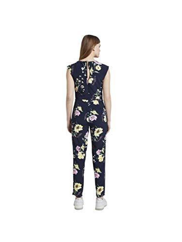 TOM TAILOR Denim Damen Jumpsuit Overalls, 22574-navy Blue Flower pri, M
