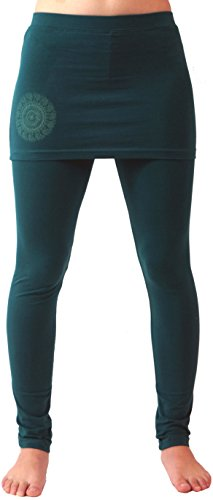 Guru-Shop Yoga-Hose Bio-BW Yogi, Damen, Emerald, Synthetisch, Size:XL (42), Shorts, 3/4 Hosen, Leggings Alternative Bekleidung