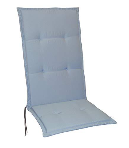 Schwar Textilien - Cojines para sillas de jardín con respaldo alto, 5 colores, plata