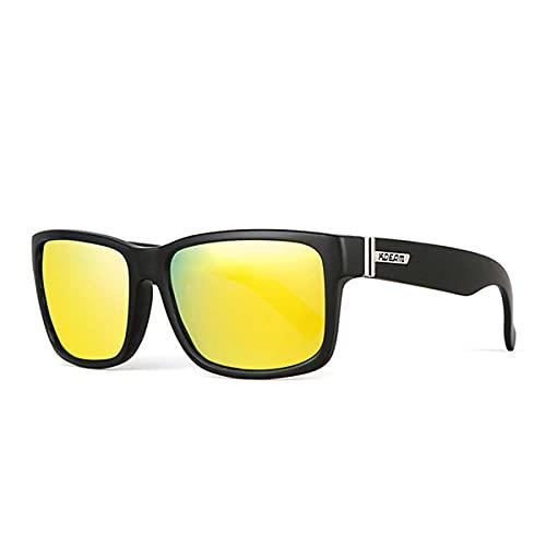 WQZYY&ASDCD Gafas de Sol Gafas De Sol Cuadradas Polarizadas para Hombre, Estilo Deportivo, Gafas De Sol, Conducción, Pesca, Gafas, Hombre-C8_Yellow_Mirror