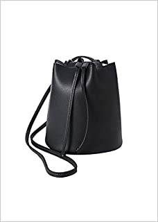 Miniso Crossbody Bag(Black) CrossBody Shoulder Bag Purse PU Leather Messenger Bag Sling Bag with Tassel Tote Purse Fashion Handbag for Women Teen Girls.