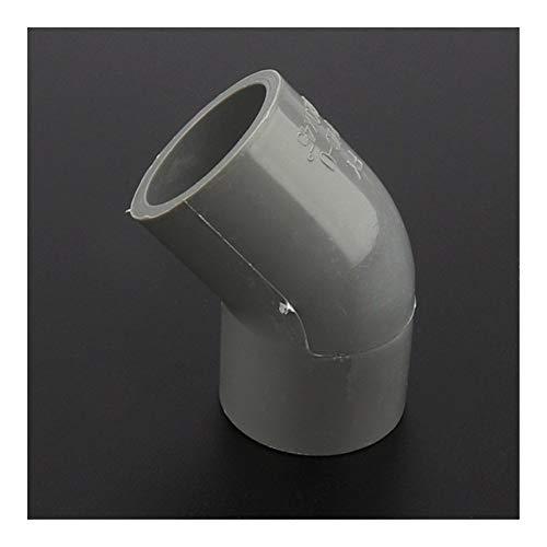 Fuerte y robusto 12/24 / 48pcs / lot de 25 mm de PVC Conectores de tubos articulación del codo de 45 grados partes de agua del tanque del acuario adaptador conectores de agua de jardín Manguera de jar