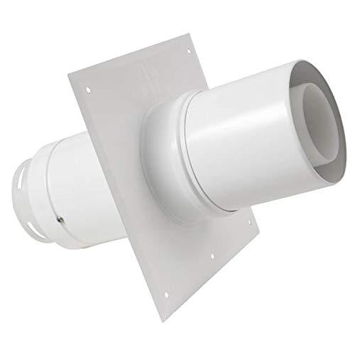 Plaque plafond C9 avec tuyau télescopique réglable de 5 à 30cm diamètre 80/125mm réf 445880