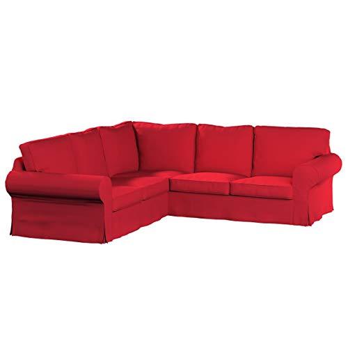 Dekoria Rivestimento per divano angolare Ektorp Rivestimento per divano, copridivano, fodere, adatto al modello Ikea Ektorp, Rosso