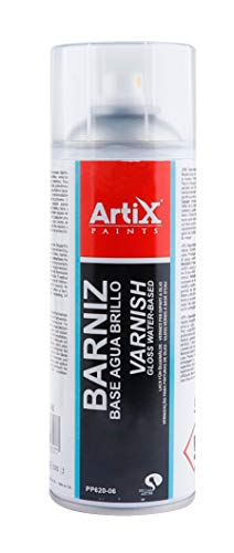 Spray para Bellas Artes Artix Paints (BARNIZ BASE AGUA BRILLO)