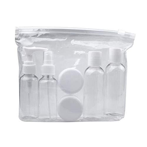 10pcs Flacon de Voyage Kit, Articles de toilette transparents portables Conteneurs Liquides pour Revitalisant Lotion Crème Shampooing