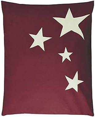 Pouf - Poire Pouf XXL Stars Tissu Impermeable - Bordeaux - 100x120 cm