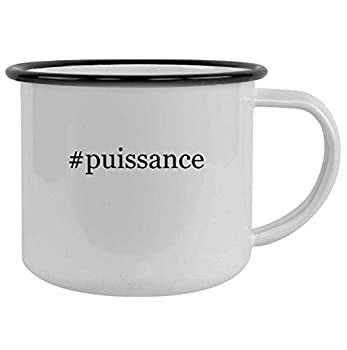 #puissance - 12oz Hashtag Camping Mug Stainless Steel Black
