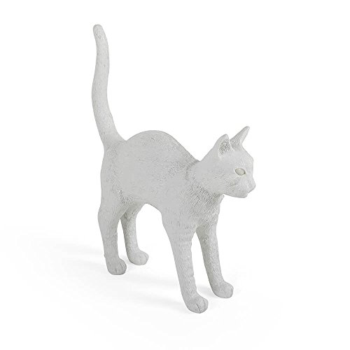 Seletti Jobby The Cat Lamp White lampe de table en forme de chat blanche