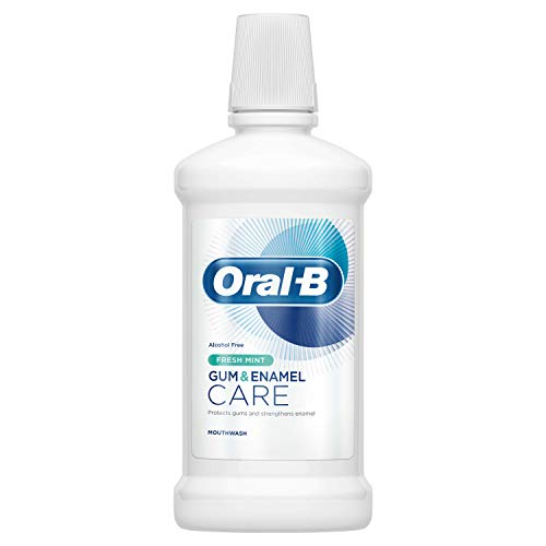 Oral-B Manuell Gum & Emaille Pflege Fresh Mint Mouthwash, 500 ml