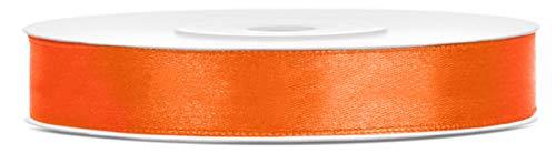 Libetui Satinband Orange Breite 12mm Schleifenband orange Satin Dekoband Orange Geschenkband Orange Deko Band Geburtstagsgeschenke Geschenkverpackung, Hochzeit, Rolle 25m Farbe Orange